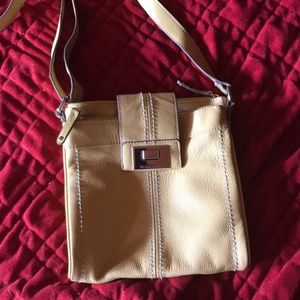 Tignanello yellow leather purse